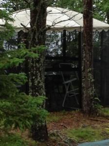 Baden-Baden-stolens madrass förvaras inomhus för att inte bli fuktig.
