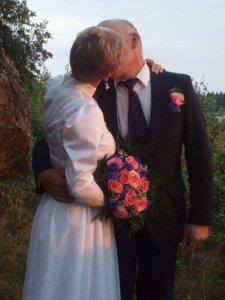 För fem år sen.... silverbröllop.